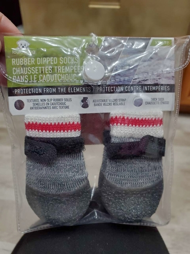 NEW RUBBED DIPPED SMALL DOG SOCKS (X-SMALL) for sale in North Ogden , UT
