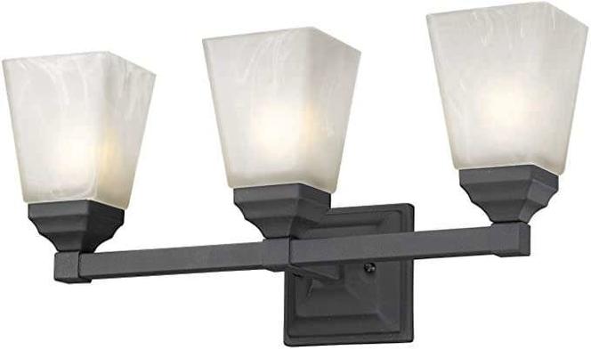 NEW BLACK 3 LIGHT VANITY LIGHT for sale in North Ogden , UT