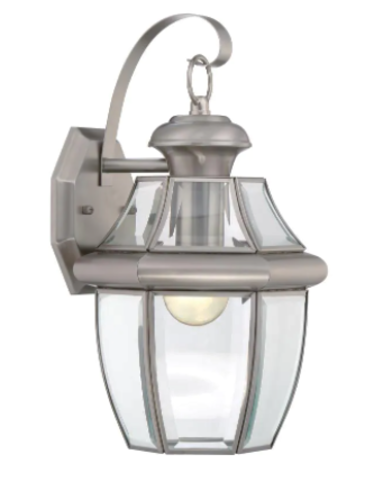 NEW BRUSHED NICKEL OUTDOOR SCONCE LIGHT (4 AVAILABLE) for sale in North Ogden , UT