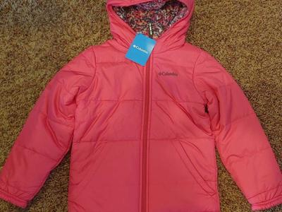 New-Columbia reversible hooded jacket girls small