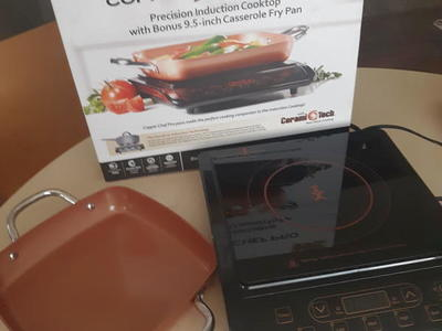 Copper chef pro cooktop and fry pan
