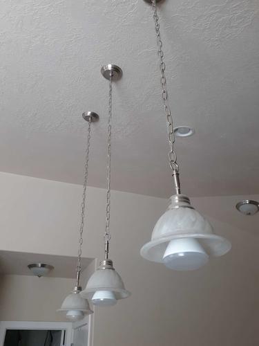 3 bar pendent light $20/each for sale in Taylorsville , UT