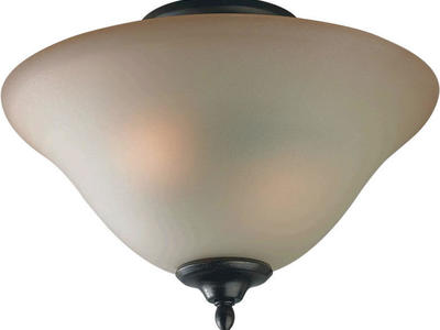 "Forte Lighting 2 Light 13"" Wide Semi-Flush Bowl C"