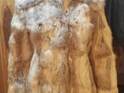Small size very beautiful rabbit fur coat
