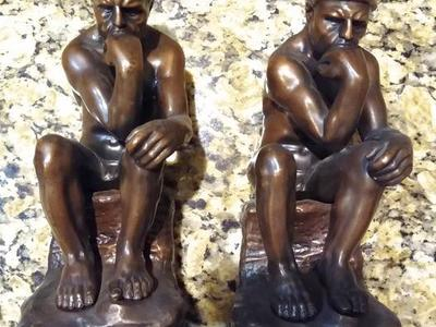 Bronze Thinker sculpture