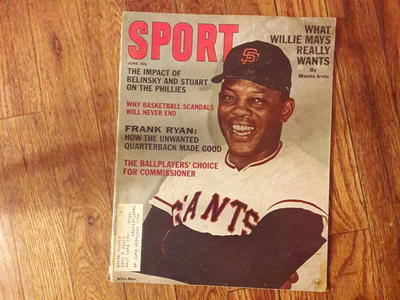 SPORT magazine featuring Willie Mays June 1965