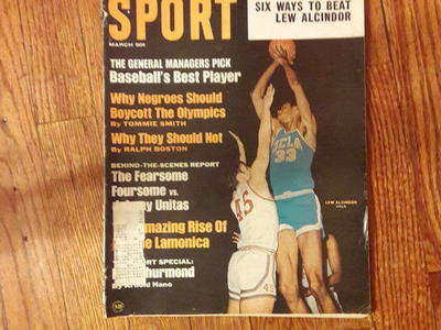 Antique SPORT magazine featuring Kareem Abdul