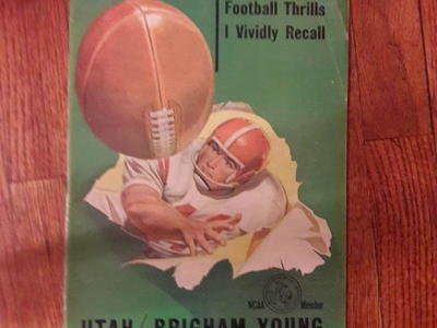 Utah BYU vintage antique football program