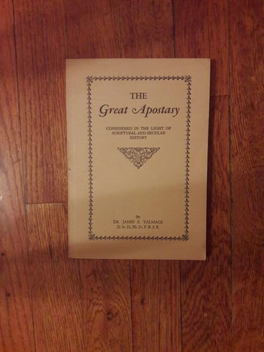 The Great Apostasy by Talmage LDS Mormon for sale in Salt Lake City , UT