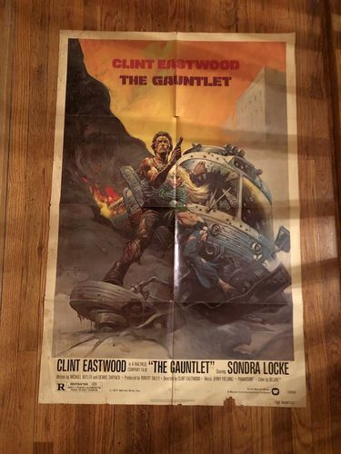 Clint Eastwood original movie poster, The Gauntlet for sale in Salt Lake City , UT