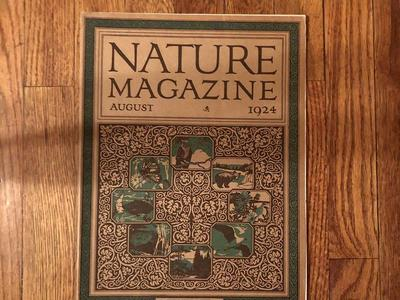 Vintage, antique Nature magazine 1924