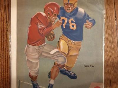 Antique Utah football program