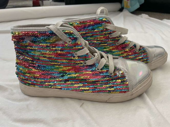 Rainbow Sequin Hightops Size 6 for sale in South Weber , UT