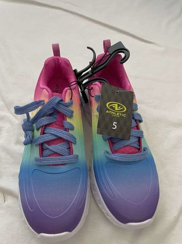 Rainbow Light Up Tennis Shoes Size 5 for sale in South Weber , UT