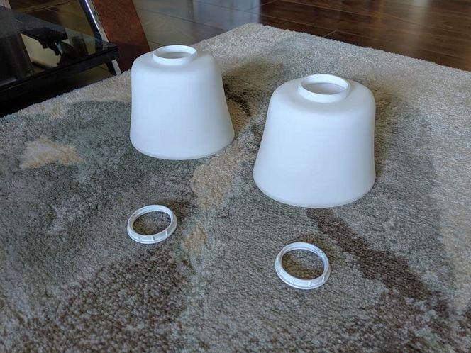 2 x Glass Bell Pendant Shade for sale in Salt Lake City , UT