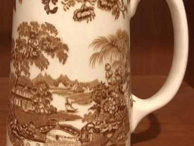 Transferware Ironstone Creamer Pitcher
