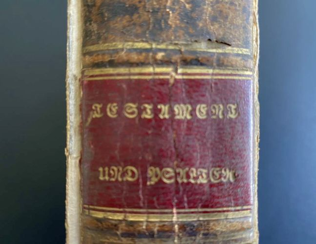 Antique NEW TESTAMENT + Psalms in German from 1836 for sale in Draper , UT