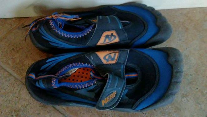 Child size 13/1 water shoes nerf for sale in Saratoga Springs , UT