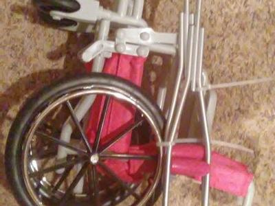 American Girl Doll Style Wheelchair and crutches