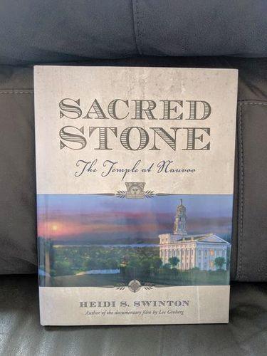 Sacred Stone Nauvoo Temple Large Hardback book for sale in Saratoga Springs , UT
