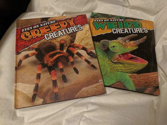 Eyes on nature creepy weird creatures spiders book for sale in Saratoga Springs , UT
