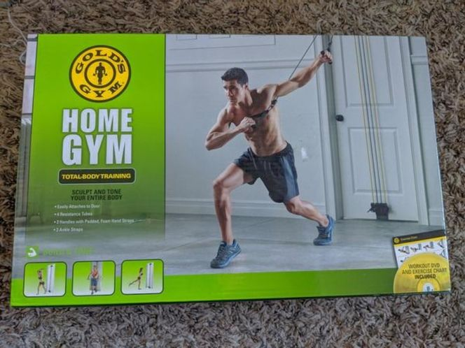 Gold's home gym resistance bands tubes workout DVD for sale in Saratoga Springs , UT