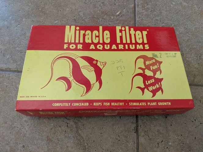 Vintage miracle filter fish tank aquarium for sale in Saratoga Springs , UT
