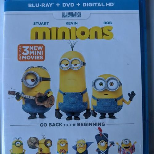 Minions (Blu-ray + DVD Disc, 2015, 2-Disc Set) for sale in Saratoga Springs , UT