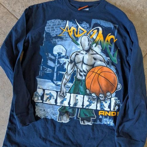 And 1 boys 14 16 long sleeve basketball shirt for sale in Saratoga Springs , UT