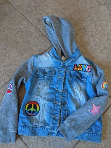Vigoss youth girls jean jacket faux fur lined for sale in Saratoga Springs , UT