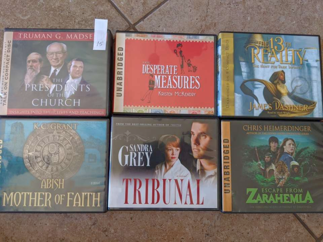 Lds books on cd $15 each for sale in Saratoga Springs , UT