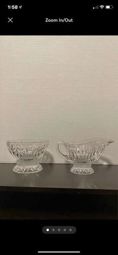 Crystal Cream And Sugar Set for sale in Layton , UT