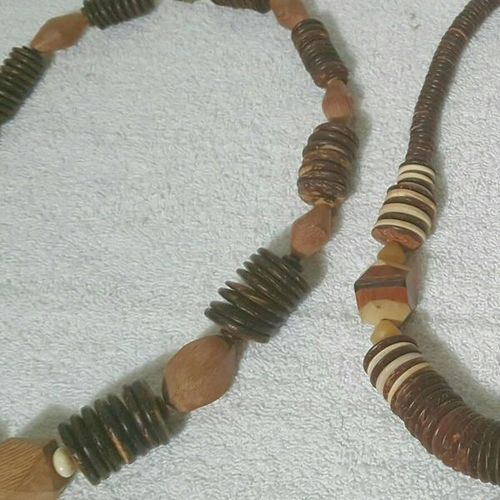 2 tone wood necklaces $3ea for sale in North Salt Lake , UT