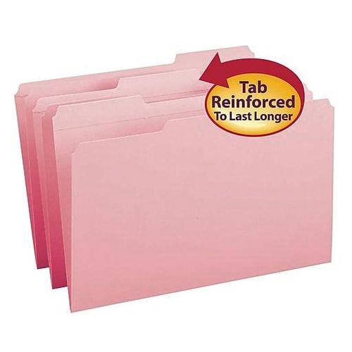 Smead Reinforced 3-Tab Pink File Folders 100/Bx for sale in Orem , UT