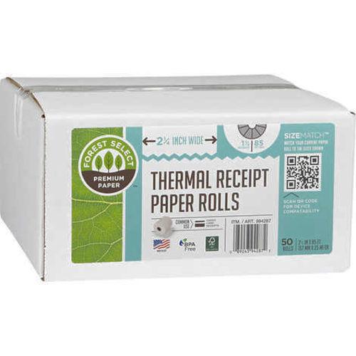 FS Thermal Receipt Paper 2.25in x 85ft Rolls 50ct for sale in Orem , UT