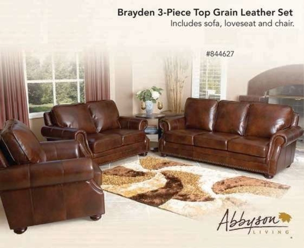 Addyson Brayden 3-piece Leather Set, includes Sofa, Loveseat, and Chair 844627 for sale in Orem , UT