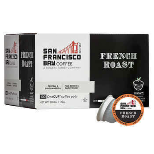 San Francisco Bay French Roast One Cup Individual Coffee Pods 100-Count 1025112 for sale in Orem , UT