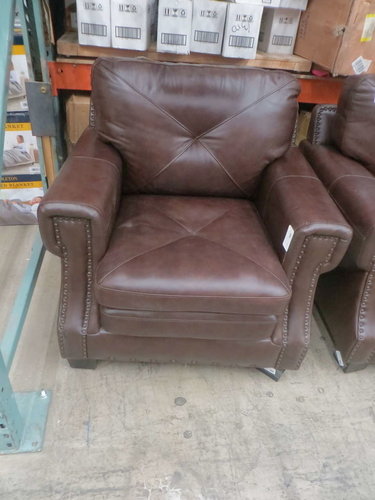 Stanley Top Grain Leather Chair by Abbyson 1441131 for sale in Orem , UT