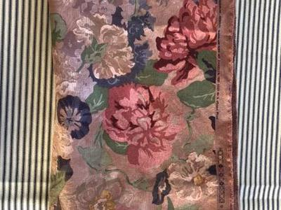 Lovely Muted Floral Home Dec Linen Like Fabric 2yd