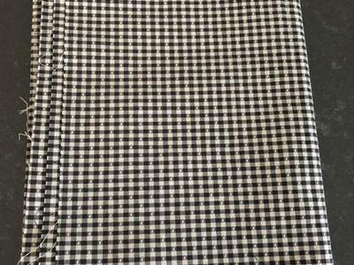 Black And White Woven Check