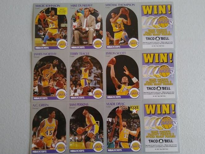 1991 L.A. Lakers Taco Bell Cards for sale in Clearfield , UT