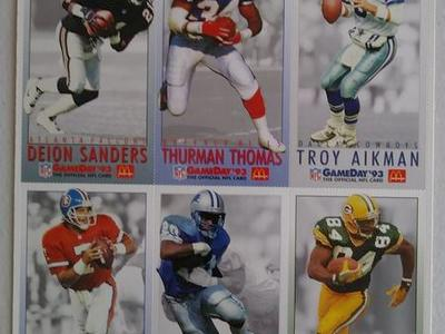 1993 McDonalds Gameday Football Cards