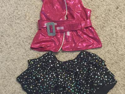 Girls 80's chick costume size 6-7
