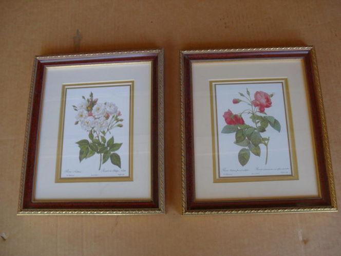 2-- Floral Framed Prints both $15.00 for sale in Midvale , UT