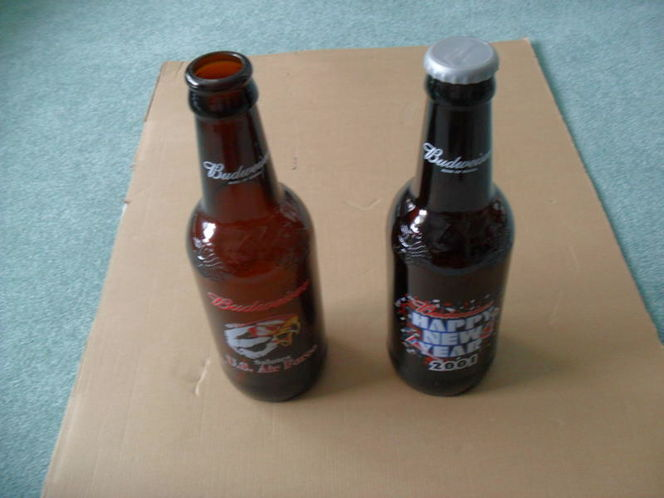2 Budweiser Collectors Bottles.$15 EACH for sale in Midvale , UT