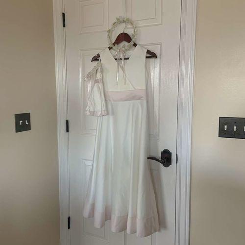 American Girl Flower Girl Silk Dress  Size 14 for sale in Herriman , UT