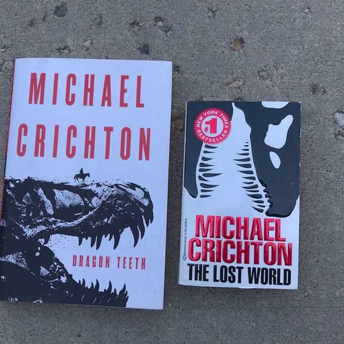 Michael Crichton books: Dragon teeth and the last  for sale in Sandy , UT