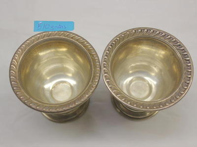 Pair of Sterling Silver Cups - Very cute