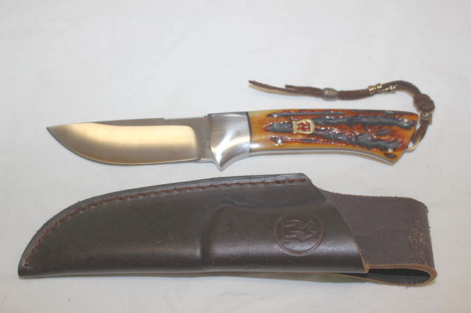 Kissing Crane Fized Blade Stag Handle Knife for sale in Roy , UT