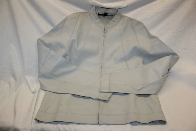 DKNY Leather Coat - Cream Color - Size S for sale in Roy , UT